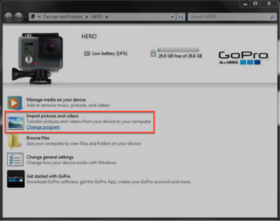 video da gopro a pc